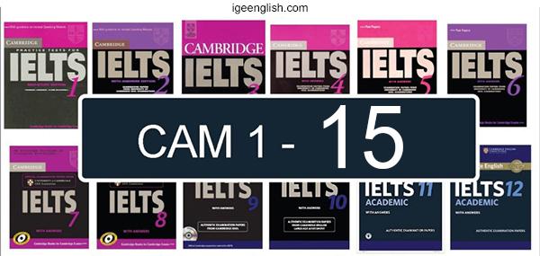 trọn bộ Cambridge IELTS 1-15 full pdf + audio