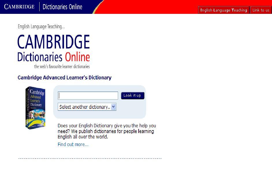 Từ điển Cambridge