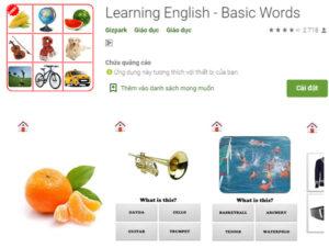 Learning English - Basic Words