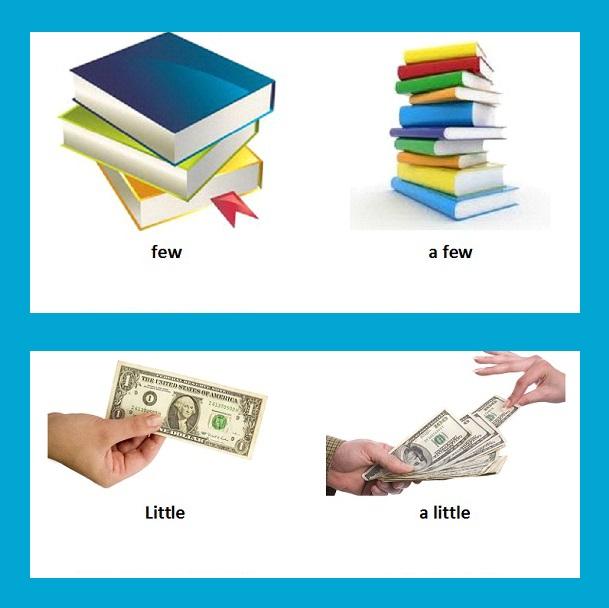 sách sử little, a little, few và a few