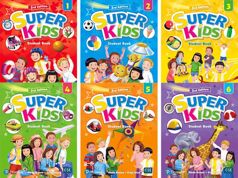 Bộ sách SuperKids level 1, 2, 3, 4, 5, 6