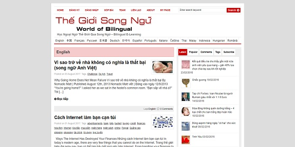 Thế giới song ngữ